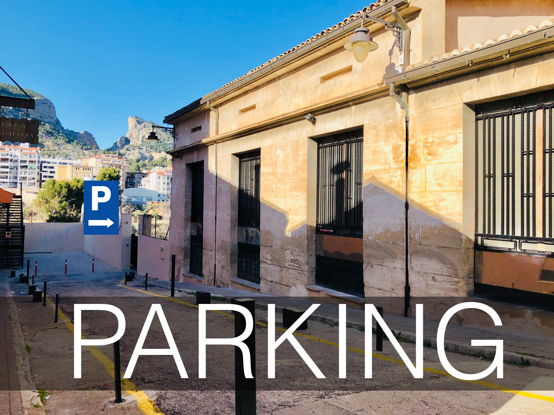 Disponemos de PARKING exclusivo para PACIENTES en pleno centro de Alcoy GRATIS
