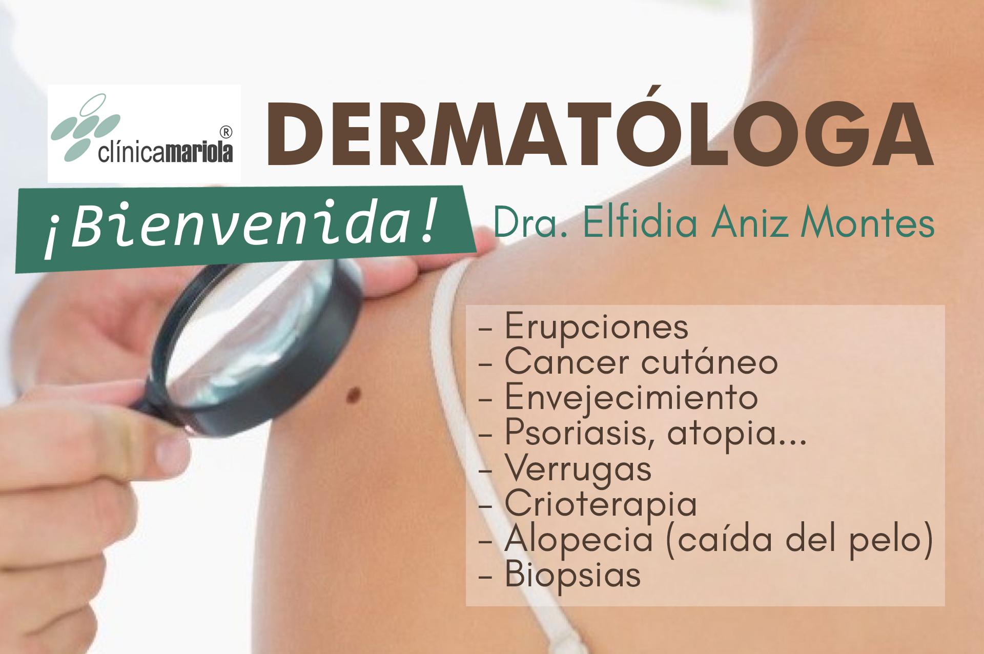 dermatologo en Alcoy Ibi Ontinyent Onteniente Albaida Castalla dermatologia elfidia aniz